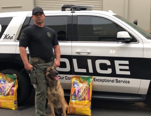 K9 Police Officers Feed Lucy Pet Formulas for Life for better Gut Health