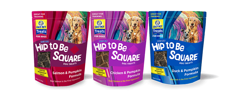 Lucy Pet Hip to Be Square Dog Treats