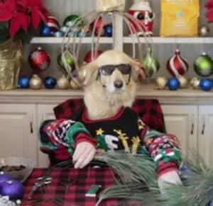 Elaboración de guirnaldas navideñas